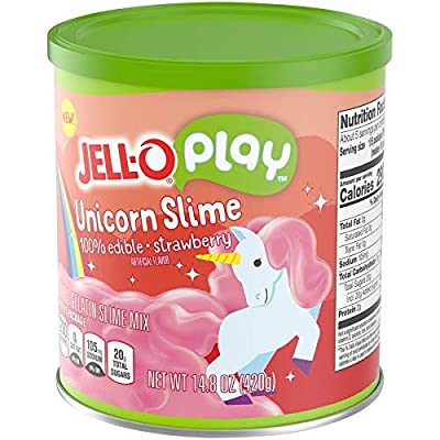 JELLO Strawberry Unicorn Slime (14.8oz Cans, Pack of 2): Grocery & Gourmet Food
