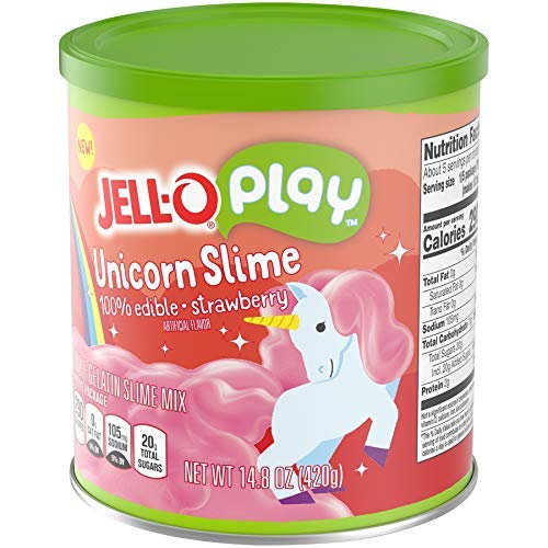 JELLO Strawberry Unicorn Slime (14.8oz Cans, Pack of 2) by Jell-O Play (Image #5)