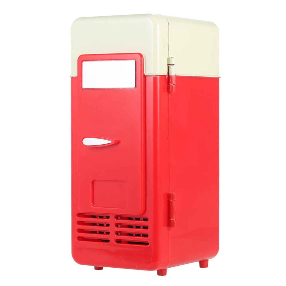 Mini Fridge, Portable USB Cooler and Warmer Dual-Purpose Refrigerator Small Fresh Keeping Cabinet for Office Outdoor by TRIEtree (red) by TRIEtree (Image #9)