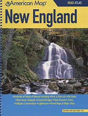 American Map New England Road Atlas: American Map Corp