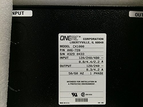 NEW ONEAC CX-1000 POWER CONDITIONER 1KVA 006-720 BX
