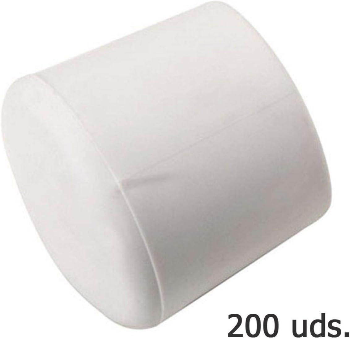 WOLFPACK LINEA PROFESIONAL 5330344 Contera Plastico Redonda Exterior Blanca 22 mm Bolsa 200 Unidades