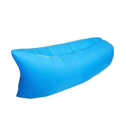 Gracorgzjs - Saco de Dormir Inflable y Plegable, portátil, para Exteriores, Playa,