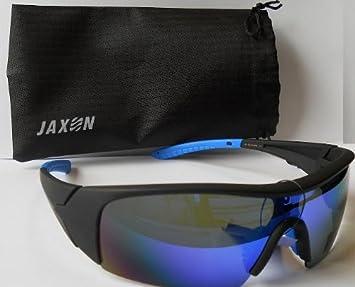 Jaxon Polarisationsbrille verspiegelt Blau verspiegelte Brille Sonnenbrille verspiegelt Brille Angelbrille 6goHKEkv