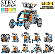 HahaGo Solar Robot Kit STEM Toys 12 in 1 Educational Building Toy DIY Science Experiment Kits Coding Robots En