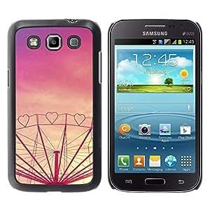 Corazón púrpura del amor Sunset Feria de atracciones- Metal de aluminio y de plástico duro Caja del teléfono - Negro - Samsung Galaxy Win I8550