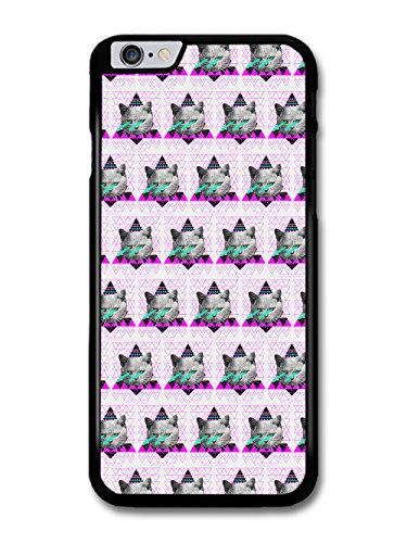 Cool Cute Funny Cat with Laser Eyes and Hipster Triangle case for iPhone 6 Plus 6S Plus