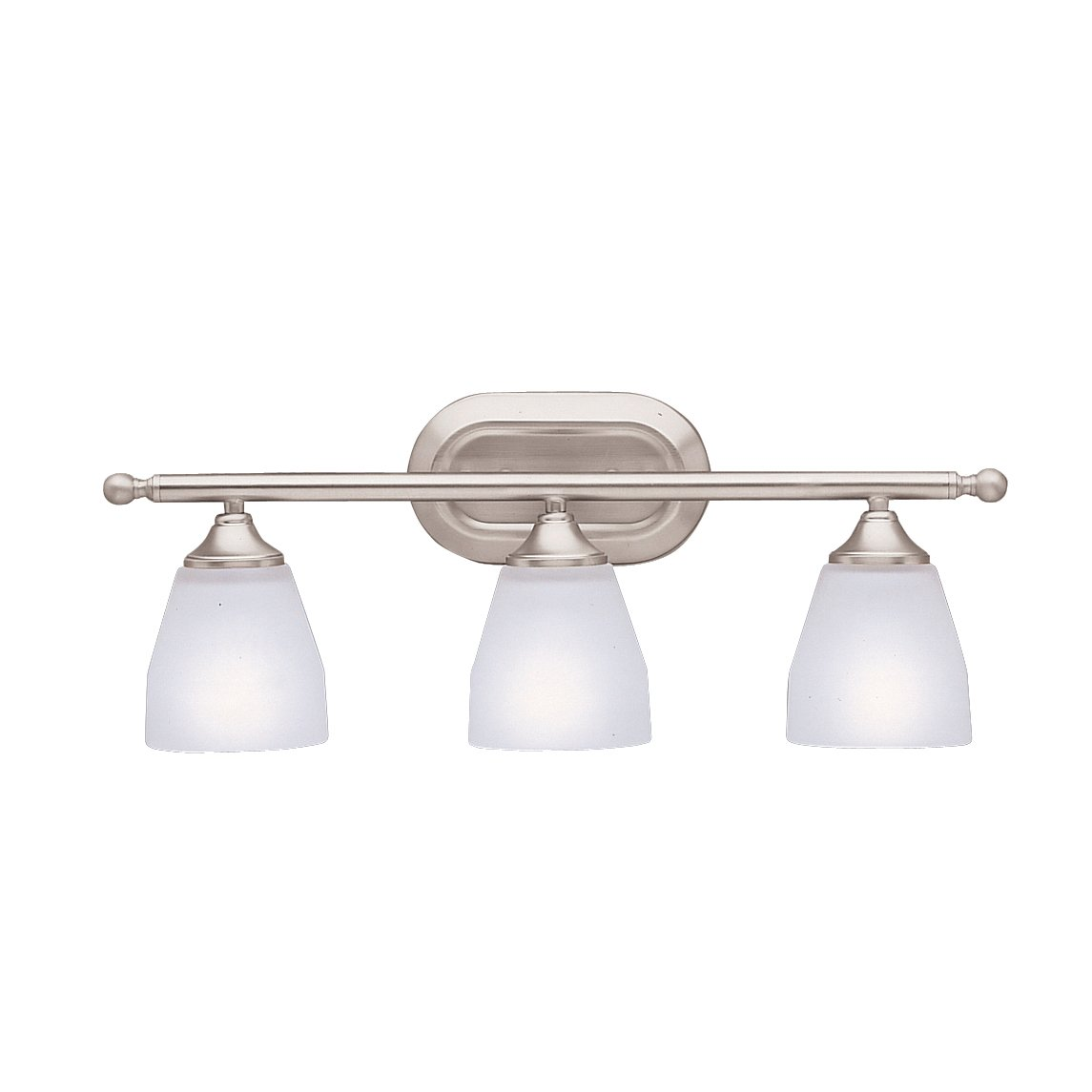 free shipping Kichler Lighting 5448NI Ansonia 3-Light Bath Fixture, Brushed Nickel with Satin-Etched Glass
