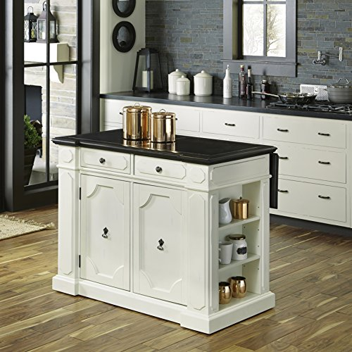 Home Styles 5076-94G Fiesta Granite Inset Top Kitchen - Dining Painted Island Kitchen Room