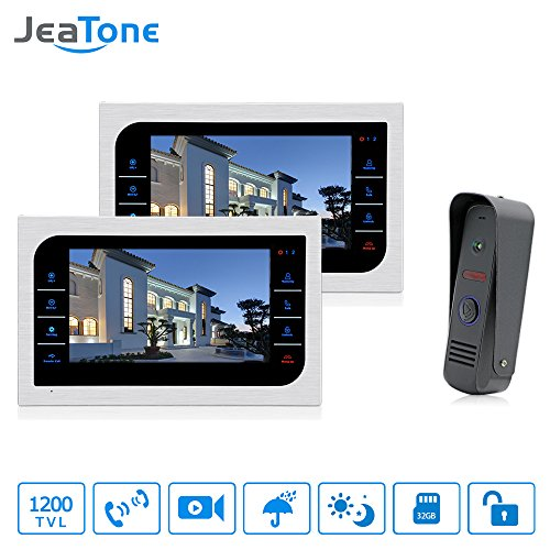 JeaTone 10 Inch TFT Wired Video Door Phone Intercom Security Camera Doorbell Home Security Camera System 32GB SD Card Video Record Monitor Door Video Camera Best Selling by Jeatone (Image #10)