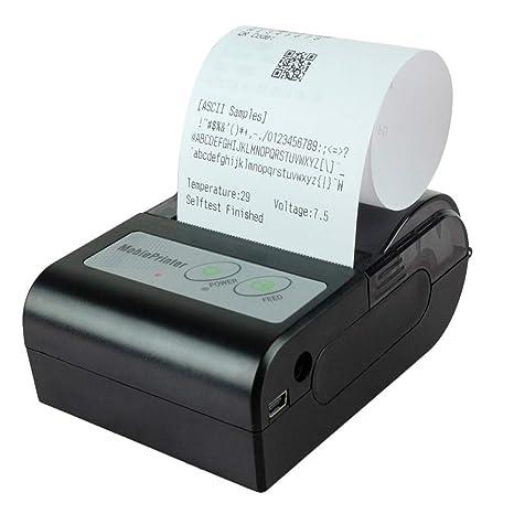 BAIYI Impresora térmica Bluetooth Impresora portátil de Alta ...