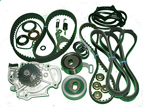 TBK Timing Belt Kit Honda Accord 1994 to 1997 Ex 4 cylinder Aisin Water Pump Timing Belt Balance Shaft Belt Koyo tensioner Factory Tensioner Spring Gaskets Seals Drive Belts Honda Balance Shaft Seal