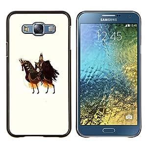 Planetar® ( Caballo Caballero Guerrero Arte antiguo Rey Soberano ) Samsung Galaxy E7 E700 Fundas Cover Cubre Hard Case Cover