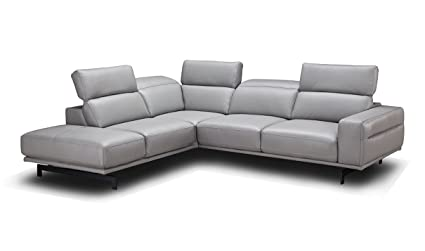 Amazon Com J M Furniture Davenport Leather Left Facing Sectional