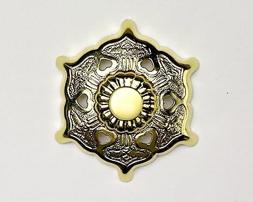 伊勢 - 宮忠 - 六葉金具 真鍮本金鍍金 6寸