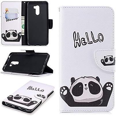 Unisnug Carcasa Protector Xiaomi Pocophone F1 con Tapa,Fundas Cuero Telefono para Xiaomi Pocophone F1 Carcasas-Hola Panda