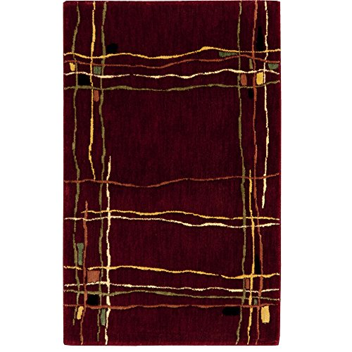 Nourison Parallels (PR01) Red Rectangle Area Rug, 2-Feet 3-Inches by 3-Feet 9-Inches (2'3