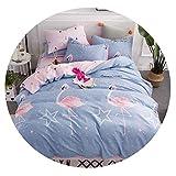 Super lucky shop-bedandbath Bedding Set Cotton Four-Piece Duvet Cover Kit Cotton Quilt Cover Sheets Bedding,13,155x210cm