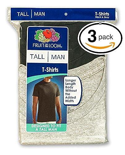 963b355a65d Fruit of the Loom Men s 3-Pack Tall Size Crew-Neck T-Shirt (2XL Tall ...