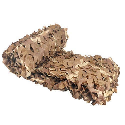Vilead Desert Camo Netting Camouflage Net for Camping Military Hunting Shooting Sunscreen Nets 5x16.5ft