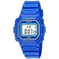 Reloj digital con correa de resina azul resistente al agua Casio F108WH