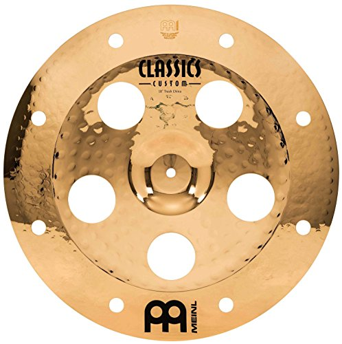 "Meinl 18"" Trash China Cymbal with Holes - Classics Custom Brilliant - Made In Germany, 2-YEAR WARRANTY (CC18TRCH-B)"