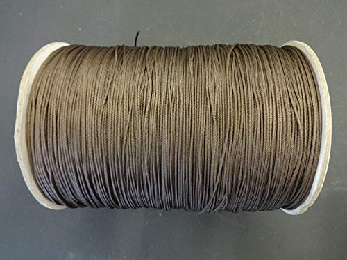 10 YARDS: CHAR BROWN 1.8 MM Professional Nylon Lift Cord For Blinds & Shades Amazing Drapery Hardware