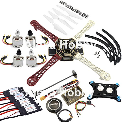 F450 Quadcopter Kit Frame APM 2.6 7M GPS Power Module 2212 Motor 30A SimonK ESC by KY HOPE
