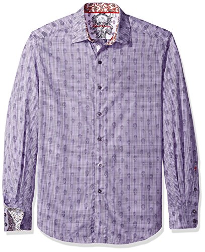 Robert Graham Men's Kinderhook Classic Fit Shirt, Purple XLarge from Robert Graham