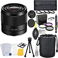 Sony FE 28mm f/2 Full Frame E-Mount Prime Lens + Macro Lens Bundle
