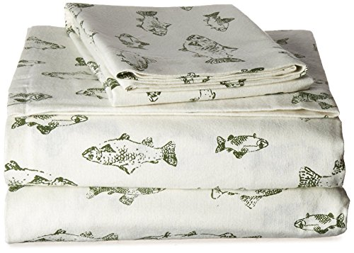 Eddie Bauer School of Fish Flannel Sheet Set, King