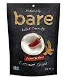 Bare Natural Coconut Chips, Sweet & Heat, Gluten Free + Baked, Single Serve Bag – 1.4 Oz (12 Count)