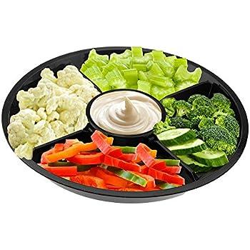 amazon com jewelite crystal 12 25 oval 5 section serving platter