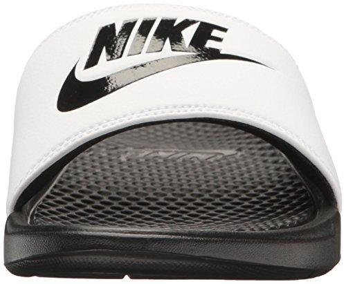 Nike Black Black JDI Bianco White Benassi Uomo Ciabatte qFFwrTYf