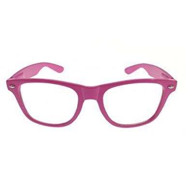 Geek Clear Glasses Hot Pink Frames: Amazon.co.uk: Clothing