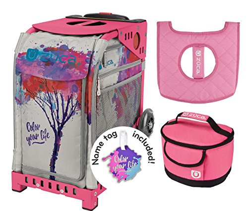 Zuca Sport Bag - Color Your Life with Gift Lunchbox and Seat Cover (Pink Frame) by ZUCA