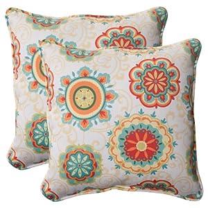 pillow perfect fairington aqua corded throw pillow 185inch set of 2