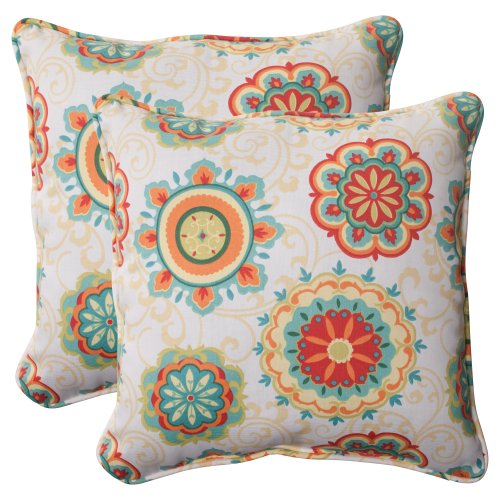 Pillow Perfect Indoor/Outdoor Fairington Aqua Corded Throw P