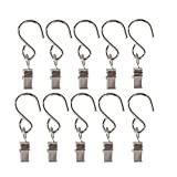 VAPKER 25 Pcs S Hanging Hooks Stainless Steel Curtain Clip Party Light Hanger Multifunction Outdoor Activities Wire Holder Party Supplies