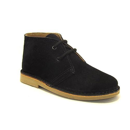 7371c572e4a 807FP - Bota safari con forro de piel negro  Amazon.es  Zapatos y ...