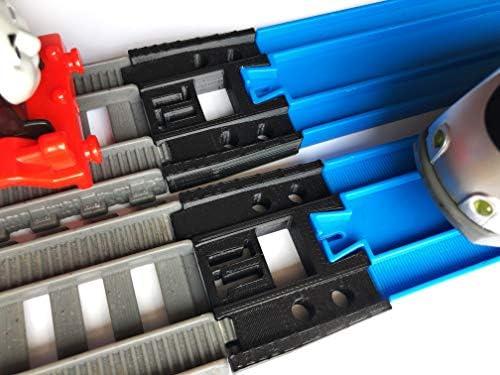 TrainLab Adapters CompatibleTrackmaster (2014+) and Plarail Train Tracks (2pc) (Black)