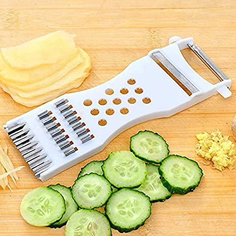 Vegetable Cutter Potato Cucumber Carrot Slicer Kitchen Fruit Peeler Tool LC