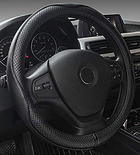 Used, 2019 New Black Microfiber Leather Steering Wheel Cover for sale  Delivered anywhere in USA