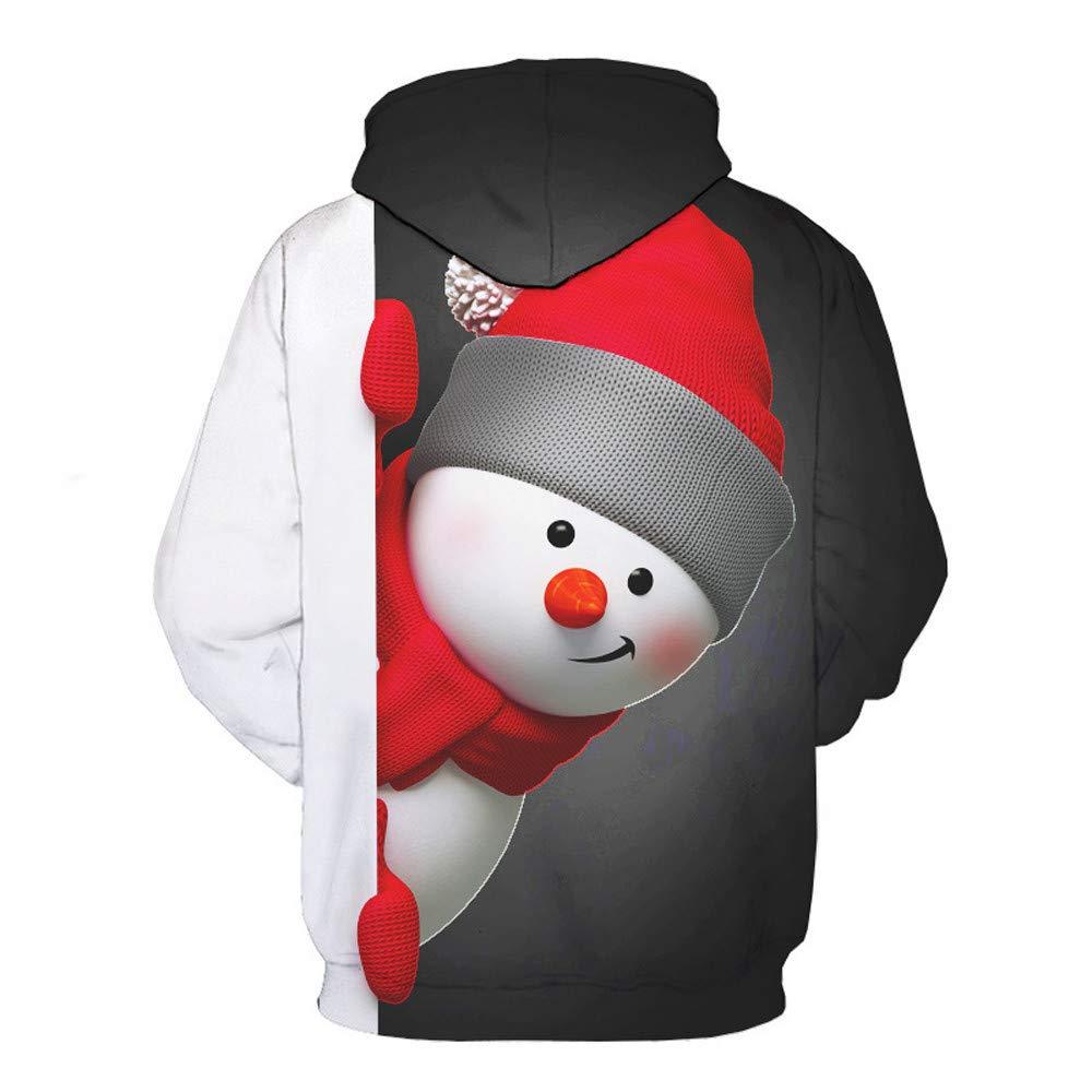 Amazon.com : Haluoo Unisex 3D Digital Graphic Printed Sweatshirt Funny Cool Snowman Drawstring Pullover Hoodie Hooded Sweatshirt Women Men : Sports & ...