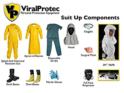 Tychem Coverall PPE Suit UP Kit: Amazon com: Industrial