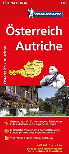 Michelin Österreich/Autriche: Straßen- und Tourismuskarte 1:400.000 (MICHELIN Nationalkarten, Band 730)