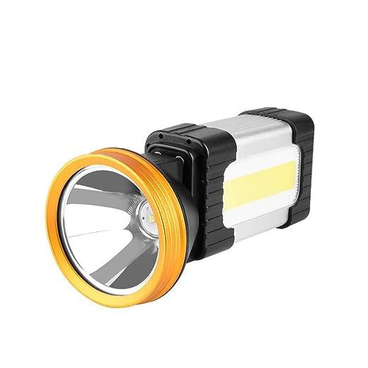 Yaxuan LED Searchlight Recargable portátil proyector de Mano ...