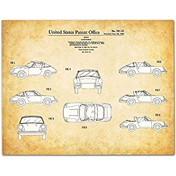 Porsche 911-11x14 Unframed Patent Print - Makes a Great Gift Under $15 for Porsche Owners