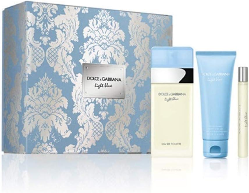 Dolce Gabanna DG Light Blue Edt V 100 ml+Bc75+Vp10: Amazon.es: Belleza