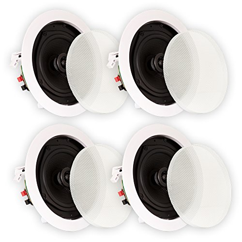 Theater Solutions TS50C In Ceiling Speakers Surround Sound Home Theater 2 Pair Pack by Theater Solutions